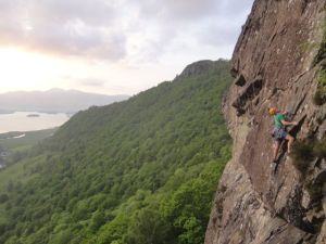 Adam Booth on the stunning Prana in Borrowdale, this is about as good as E3 gets (and what a backdrop!)