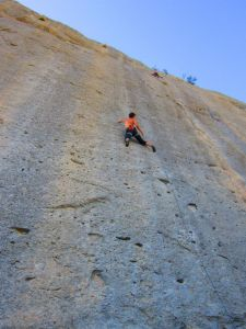 Angel Dust 7a+ - one of the many super classic routes climbed throughout a utterly fantastic trip