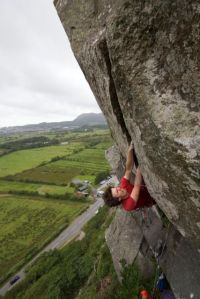 Getting massively pumped on the sportingly graded Neb Direct, Tremadog