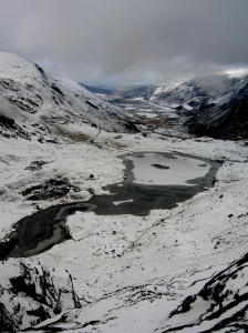Llyn Idwal in stunning winter garb
