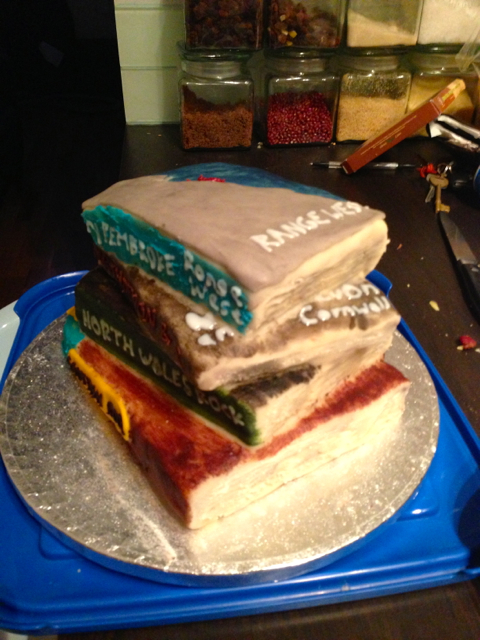 If you ever have problems making a decision where to go, bake a cake in the shape of all the guidebooks and go wherever tastes best