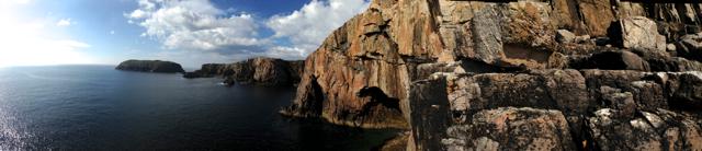 Panoramic shot of the Screaming Geo, Mangersta