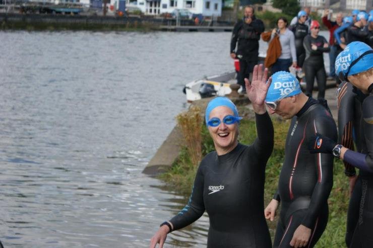 My Mother, Val Greenwood, starting yet another epic swim