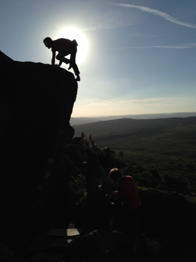 Adam Brown topping out of The Alliance, Burbage South