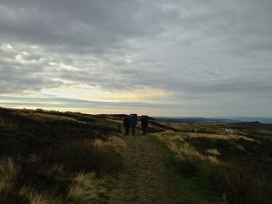 Sunrise at Stanage after a pre-word boulder at Apparent North with Team Outside