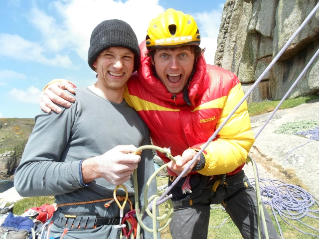Benno Wagner, my climbing partner for much of the BMC International Meet. A good friend and a true hero, this shot was taken just after his fall off Lovely, Lovely, Lovely where he managed to sheer one of my ropes in half. Oops...