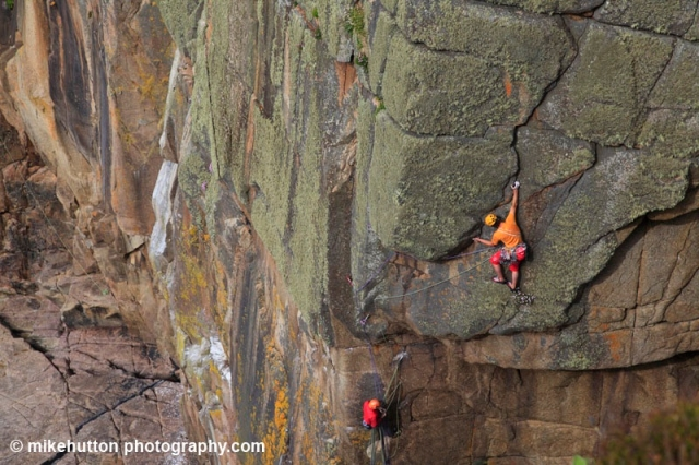 Dream Liberator in Bosigran's Great Zawn - just one of the many routes climbed throughout the BMC International Meet