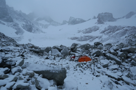 Bad weather camping in Patagonia