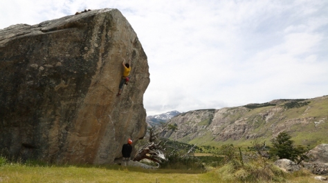 Bouldering in Patagonia