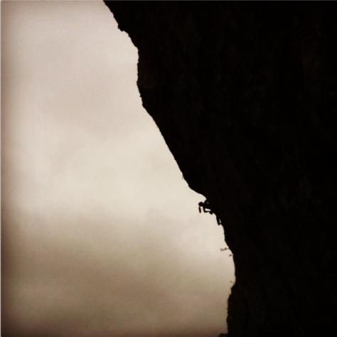 Maddy Cope on the irrepressibly steep Dominatrix at Kilnsey Photo: Katy Whittaker