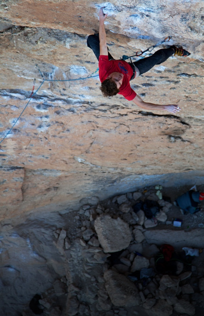 Nathan Lee climbing his first 8b - Marrancita