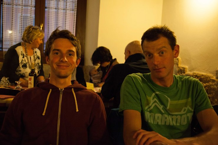 Two likely looking lads: UKC's Resident Filmmaker Nick Brown and Jack Geldard