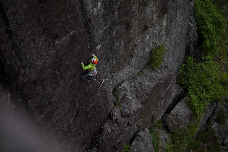 Duncan Campbell coming in at the other end of the scale, bringing 7b+ ability to the table with much the same result