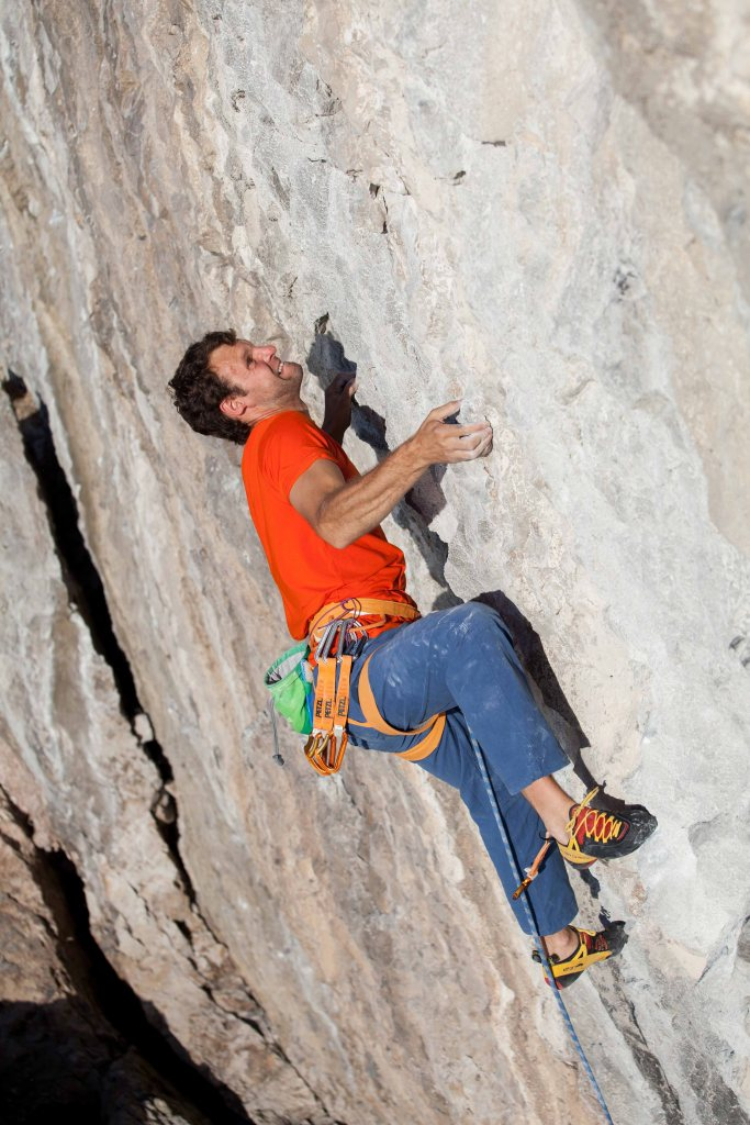 Neil '5c' Mawson busting out a move that looks disconcertingly 6b on Skip of Fools (8a+)