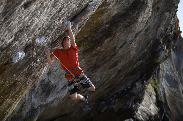 Wiz Fineron cutting loose at the start of The Brute (8b)