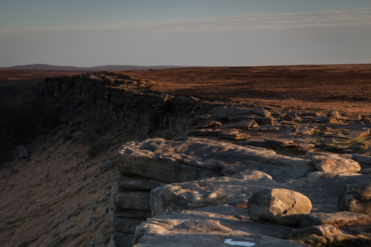 Sunrise over Stanage in mid-April. Well worth the 5am start...