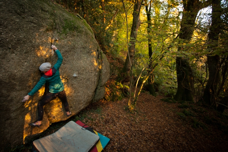 Breadcrumb Trail, a stunning, yet pretty full on, 6b in Bovey Woods